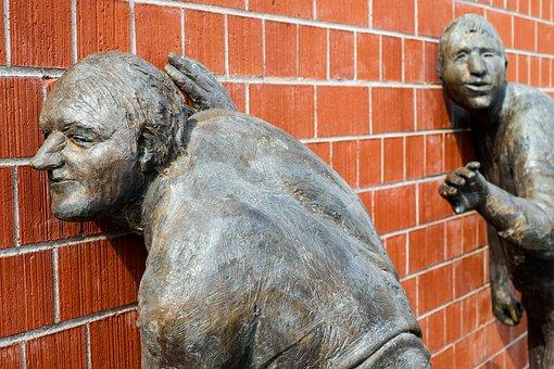 Sculptures, Bronze, Ecouter, Chiffres