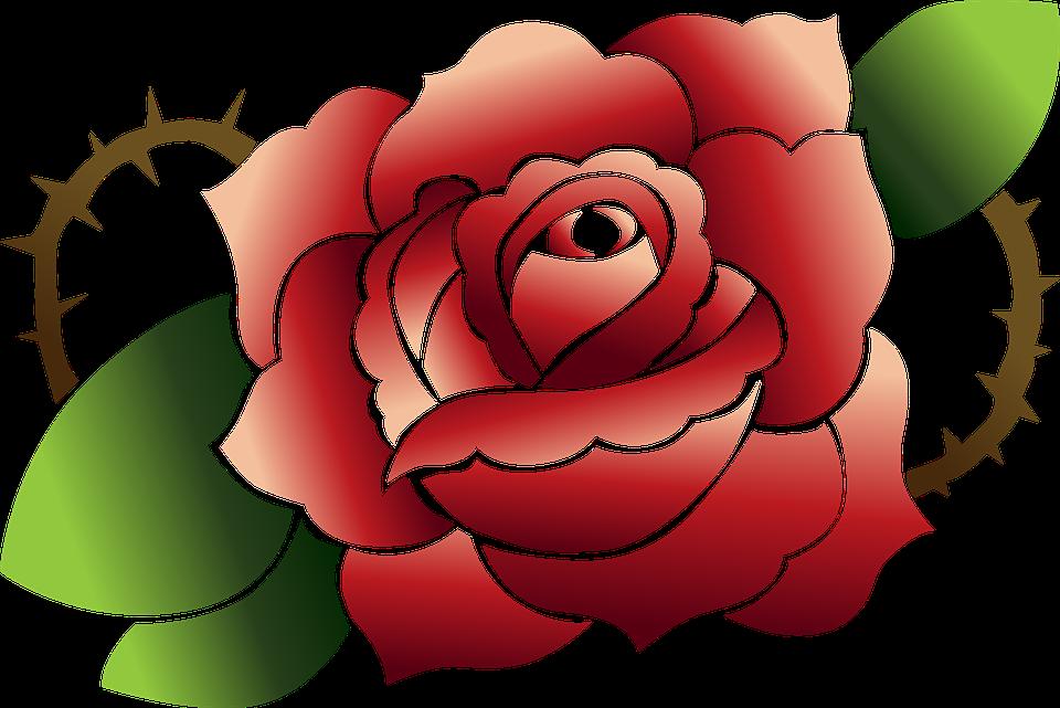 Rose Red Tatouage Images Vectorielles Gratuites Sur Pixabay