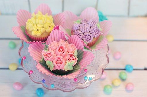 Cupcakes, Kukka, Pastelli, Pääsiäinen