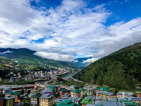 Bhutan, The Village, Mountains