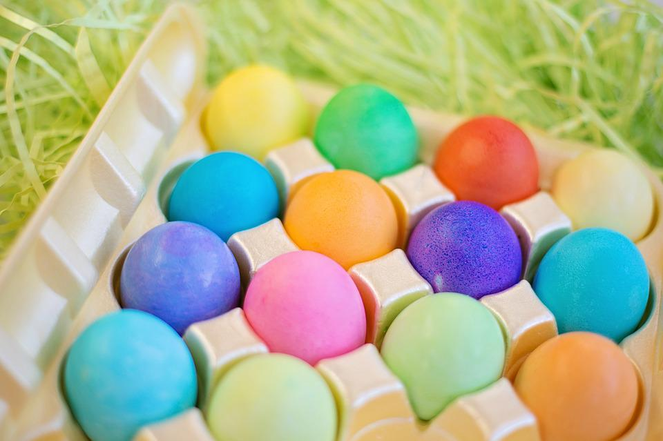 easter eggs colorful pastels easter