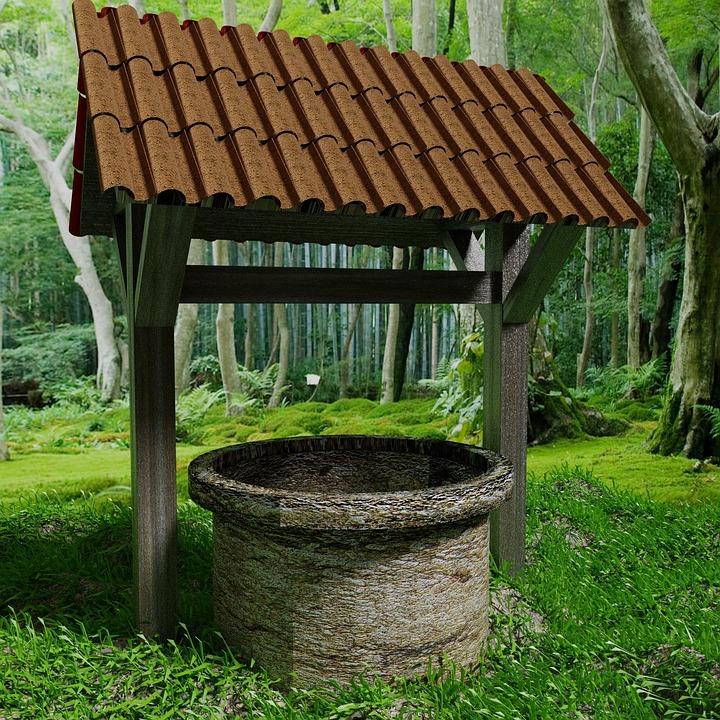 井戸, 自然, フォレスト, 木, キノコ, 風景, 秋, 木材, 泡, 葉, トランク, 春, 妖精