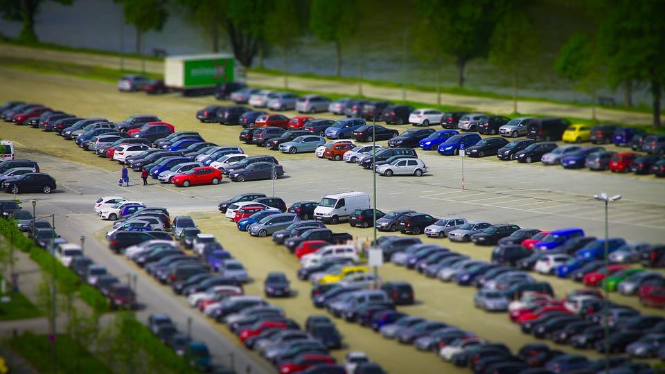 ミニチュア, 駐車場, 車, 自動車