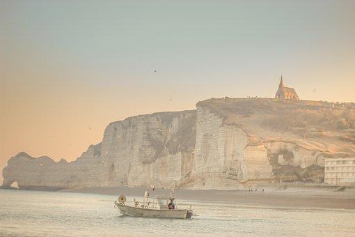 Plage, Côte, Falaises, Dover
