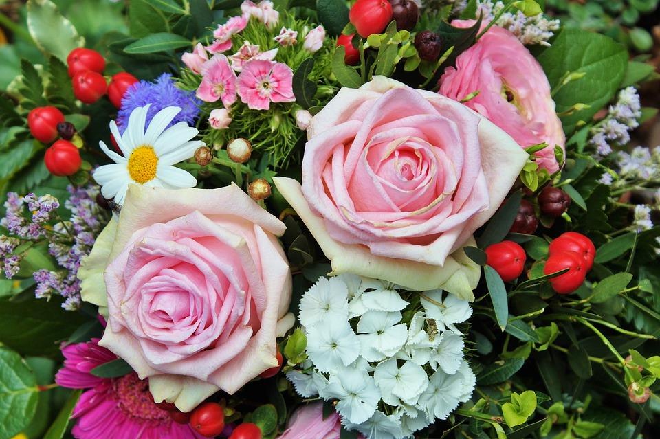 Roses flowers arrangement free photo on pixabay roses flowers arrangement blossom bloom pink rose mightylinksfo