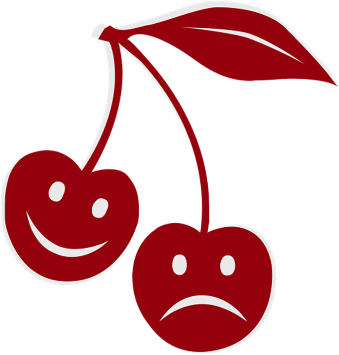 Free Illustration Happy Sad Cherry Feelings Free