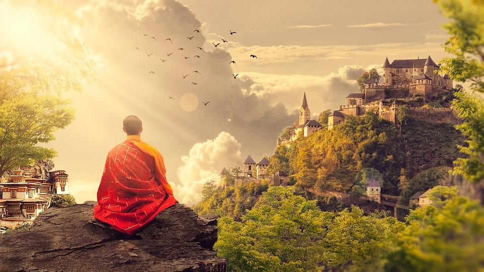 Boeddhisme, Monnik, Tempel, Panorama, Boeddhistische