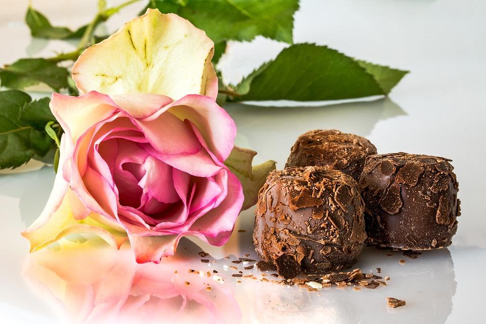 Czekoladki, Wyroby Cukiernicze, Czekolada, Róża