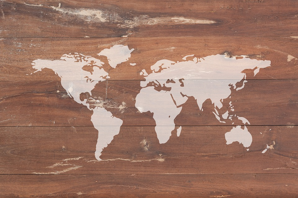 Vintage Map Of World.Vintage Map World Of The Free Image On Pixabay