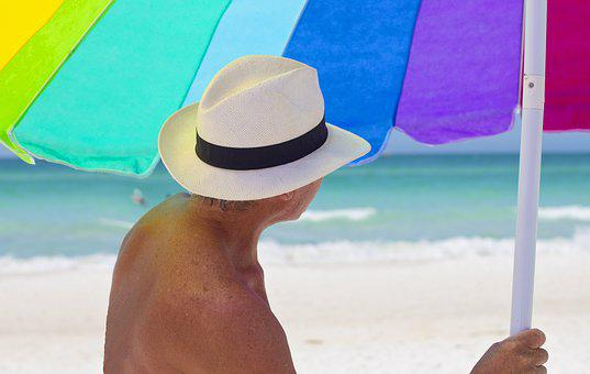 Beach, Umbrella, Vacation, Sun, Travel