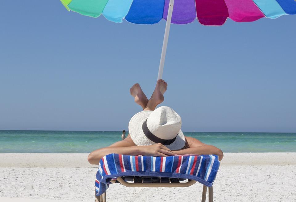 休暇, ビーチ, リラックス, 旅行, 太陽, 海, ビーチ日, 日焼け, 日光浴, 夏, 海岸, 岸, 砂