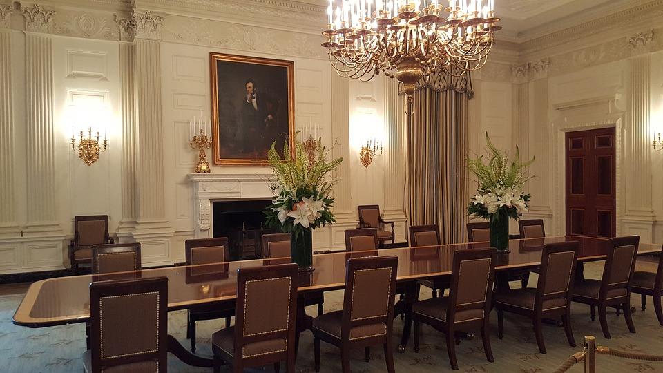 Schön Weißes Haus, Esszimmer, Abraham Lincoln, Porträt