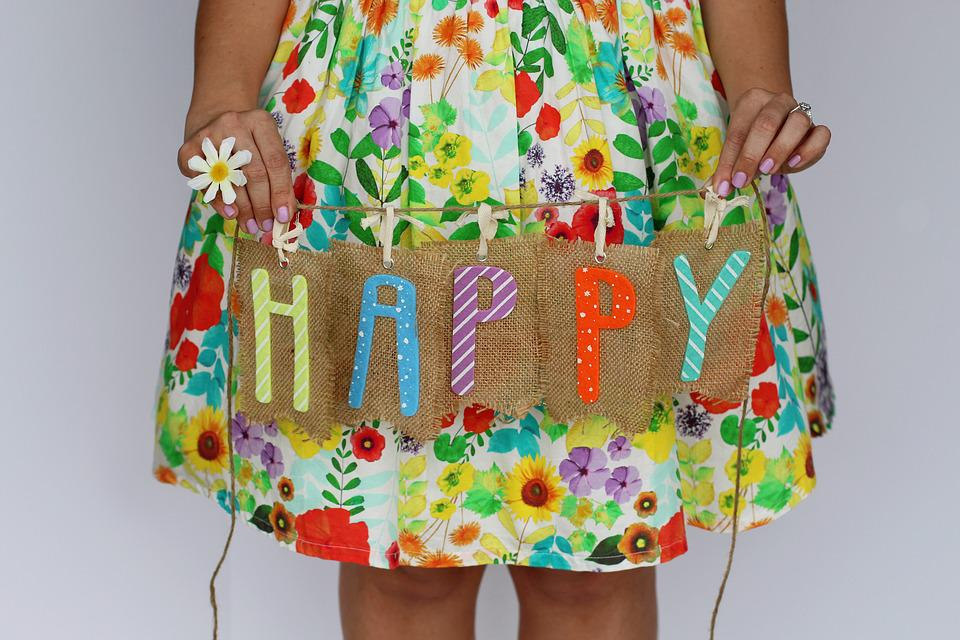 Happy, Fun, Spring, Spring Background, Daisy, Dress