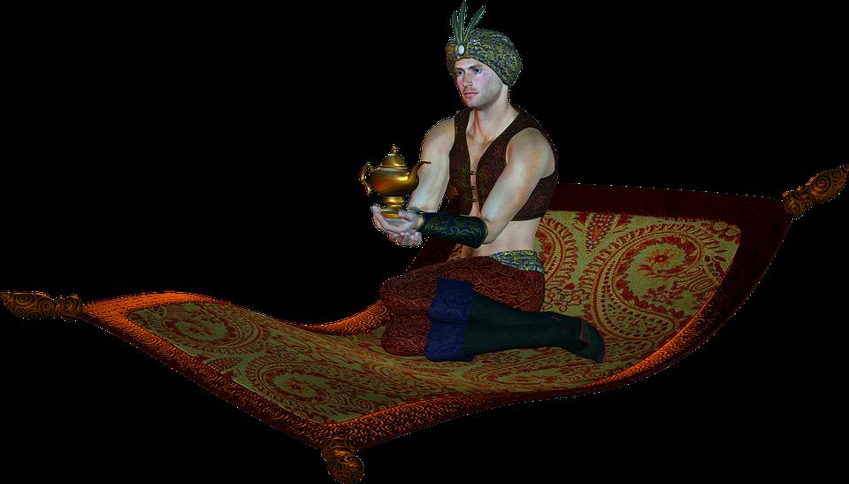 Free Illustration Genie Aladdin Lamp Magic