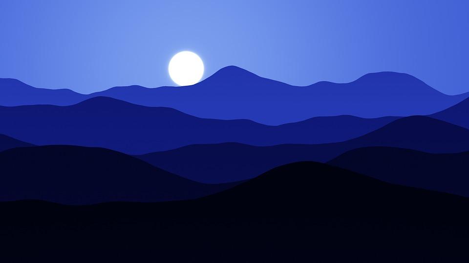 Notte Luna Montagne Immagini Gratis Su Pixabay