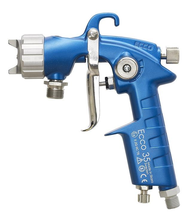 Spray Gun, Färgpistol, Airbrush, Painting, Nozzle
