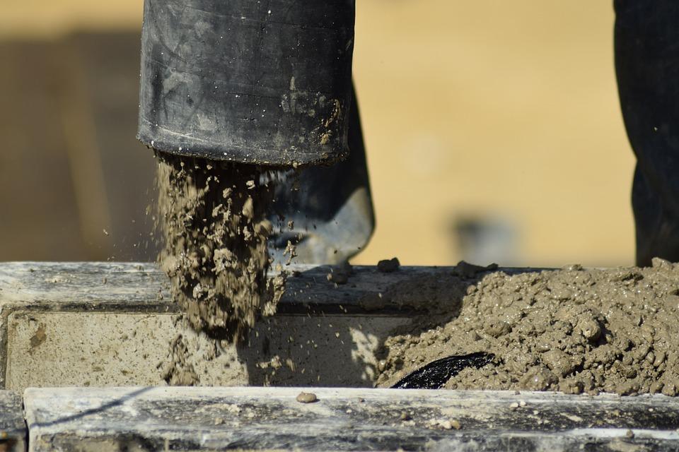 concrete pump concrete