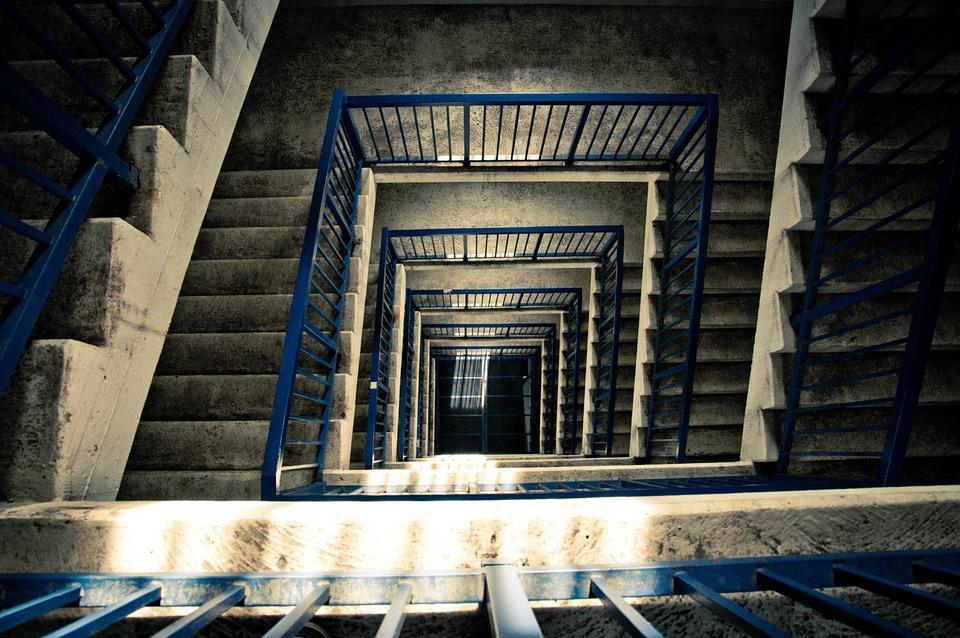 Escaleras, Arquitectura, Torre, Barandilla