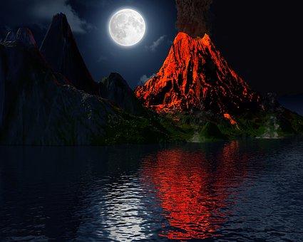 Ηφαίστειο, ΈκÏηξη, Moon, Îησί, Τοπίο
