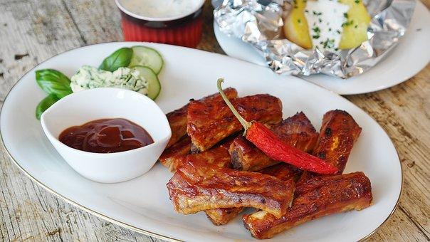 Spare Ribs Grill Bbq Sauce Barbecue Peelin