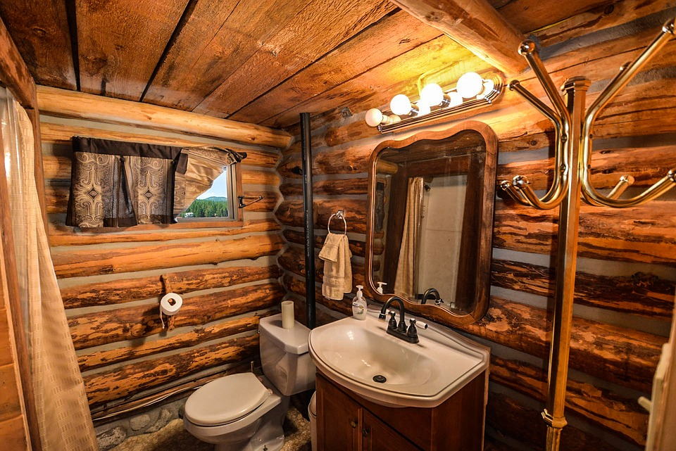Log Home  Log  Home  Bathroom  Rustic  Country  Pioneer. Free photo  Log Home  Log  Home  Bathroom   Free Image on Pixabay