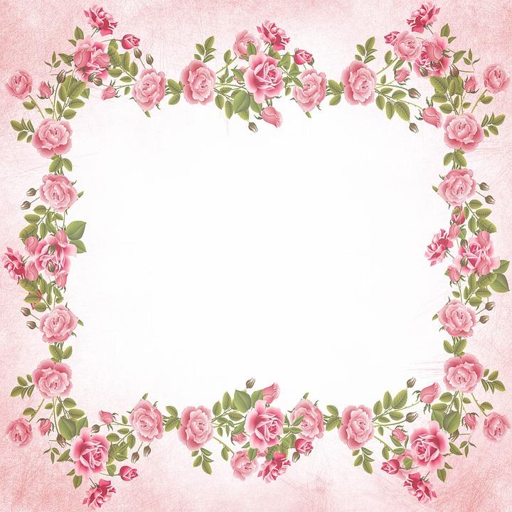 Roses Pink Scrapbook Background Free Image On Pixabay