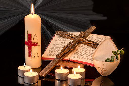 Easter, Easter Candle, Cross