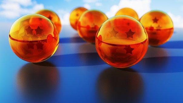 結晶, ボール, ドラゴン, Shenron, 漫画, 日本語, ガラス, 黄色