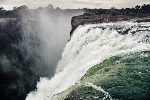 Waterfall, Victoria Falls, Spray