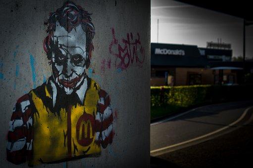 Mcdonalds, Ronald, Joker, Heath Ledger