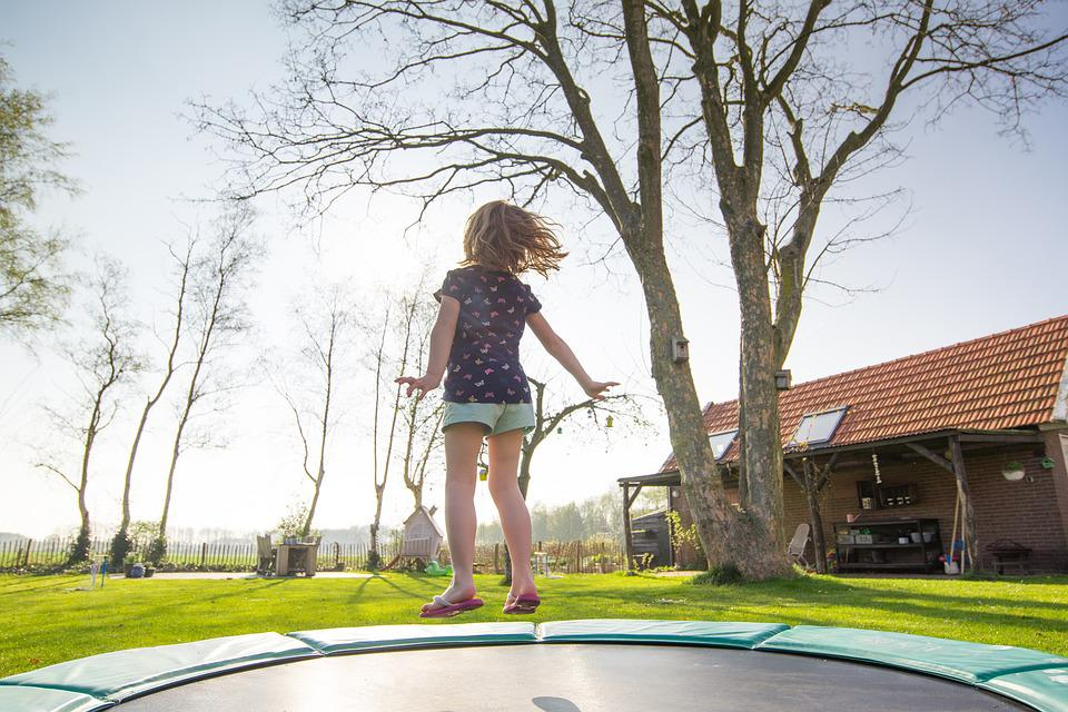 Trampoline, Girl, Play, Jump, Fun, Activity, Child