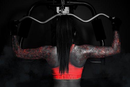 Mujer, El Deporte, Gimnasio, Músculo