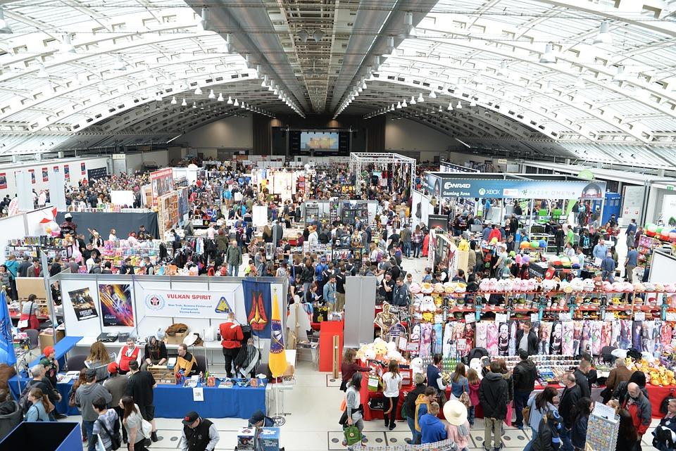 Comic Con, Convention, Centre, People, Masses