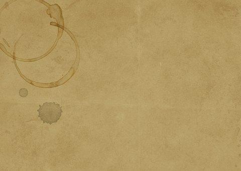 Old Paper Vintage Coffee Stain Brown