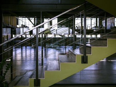 欧洲, Tekwill, 办公室, 工作伙伴, 空间, 楼梯, 玻璃, 玻璃