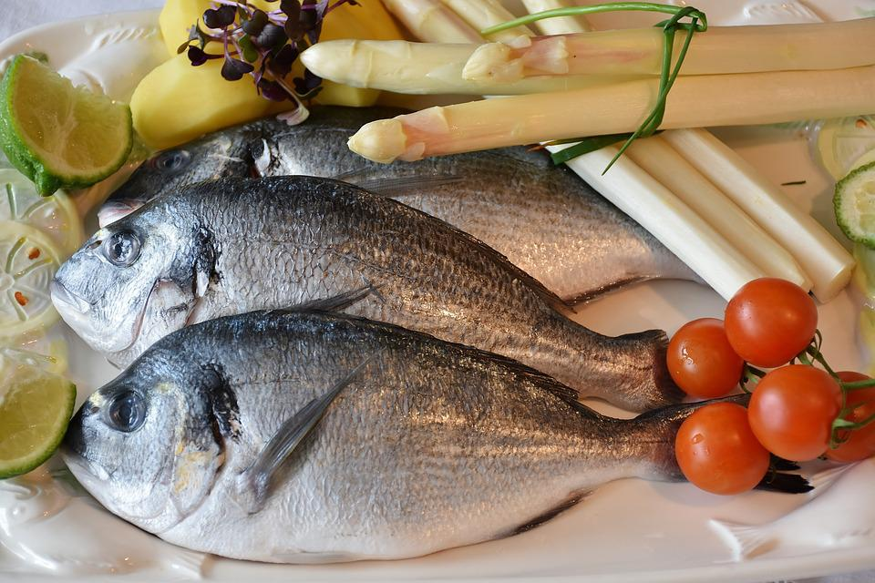 Free photo fish sea bream asparagus free image on for Fish and asparagus