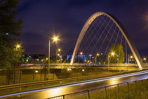 Bridge, Manchester, Hulme, Long Exposure