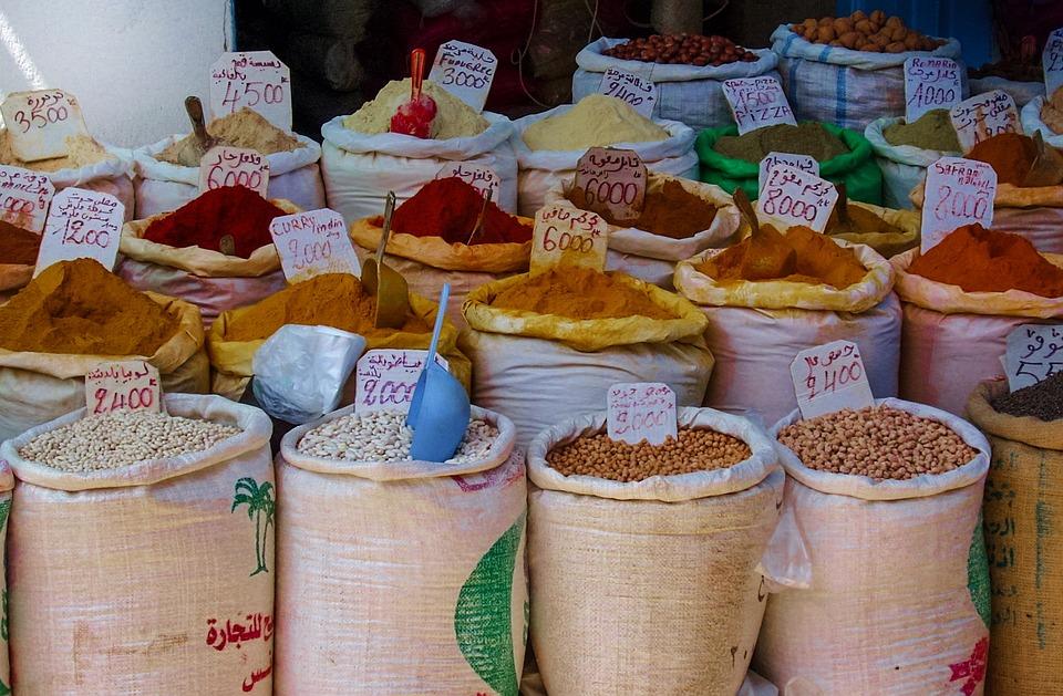 Épices, Marché, Alimentaire, Poivre, Red, Cuisson