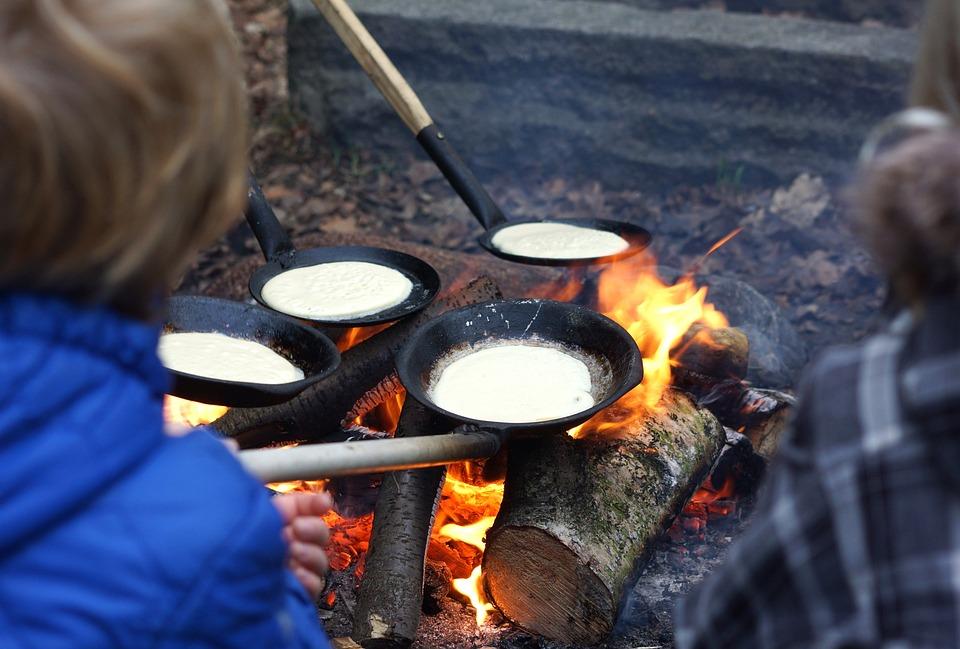 Bonfire, Pancakes, Fire, Place For A Bonfire