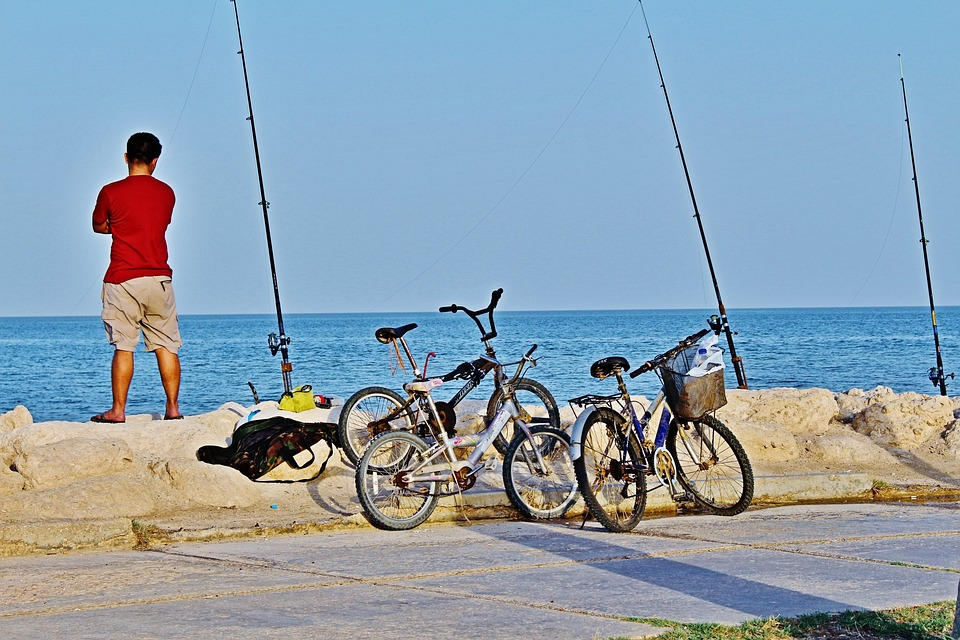 Khobar, Fishing, Cycle, Alone, Saudi, Saudi Arabia