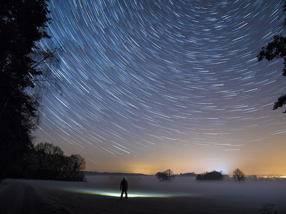 Sentieri Di Stelle, Star, Notte, Luce, Cielo