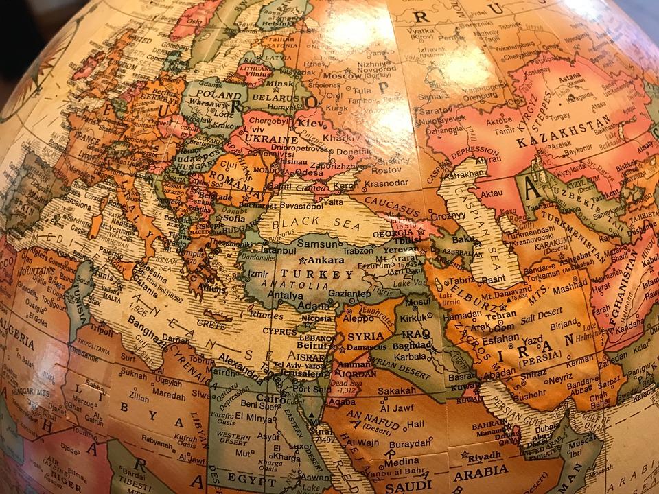 Klot, Världen, Europa, Kalkon, Svart Hav, Ryssland