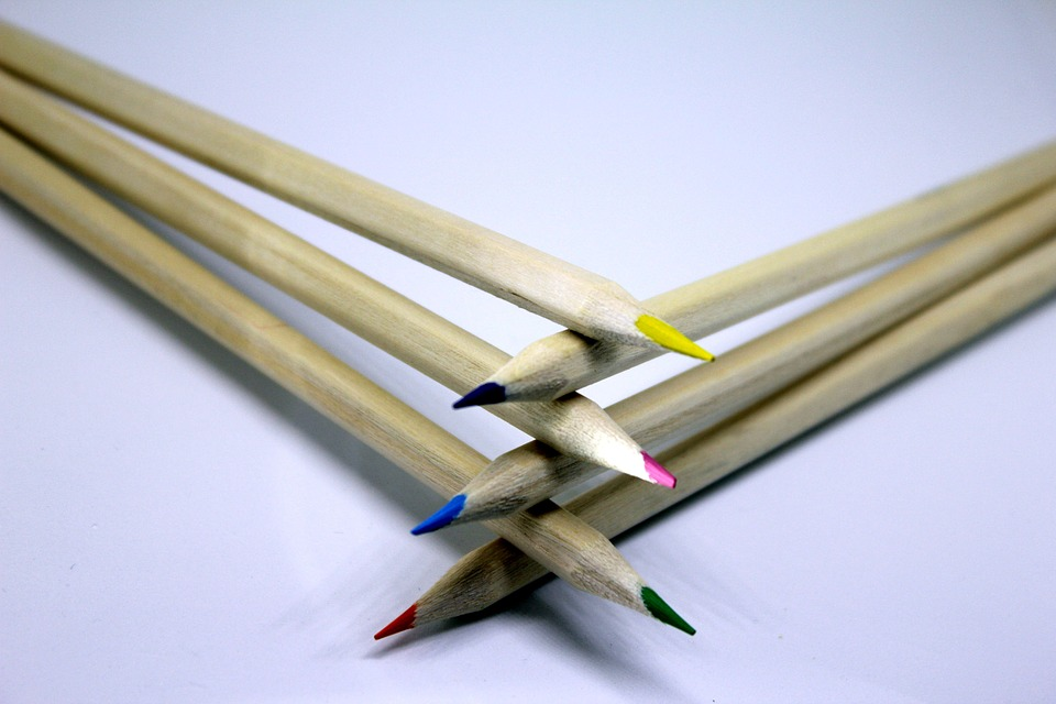 Pencil Colour Draw Creative Office Wooden Artist