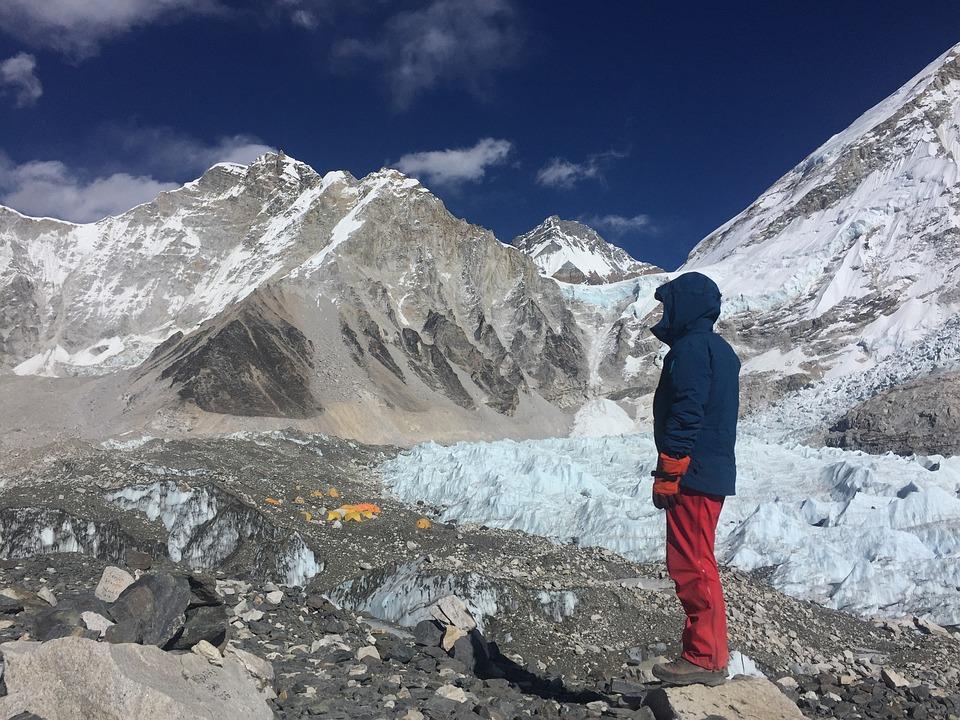 Berg, De Mount Everest Citadel, Nepal, Natuur, Hemel