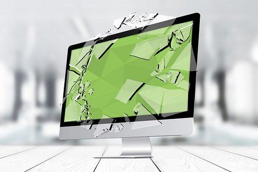 Broken Business, Monitor, Broken Display