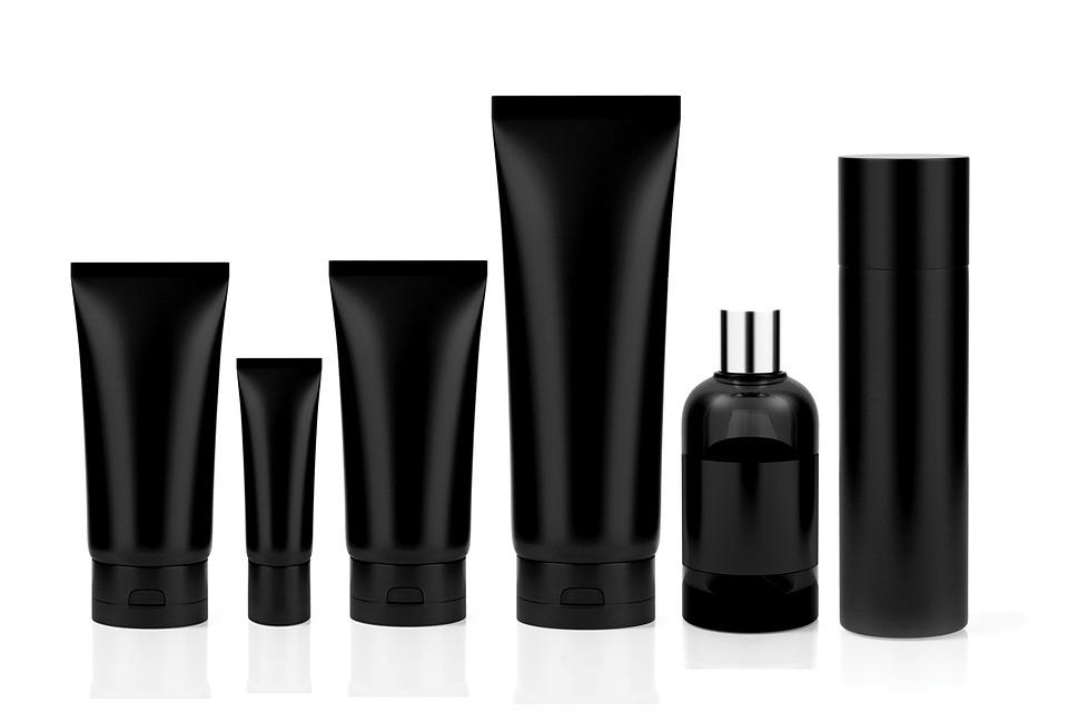 Cosmetics Set Tube Perfume Bottle Deodorant Black