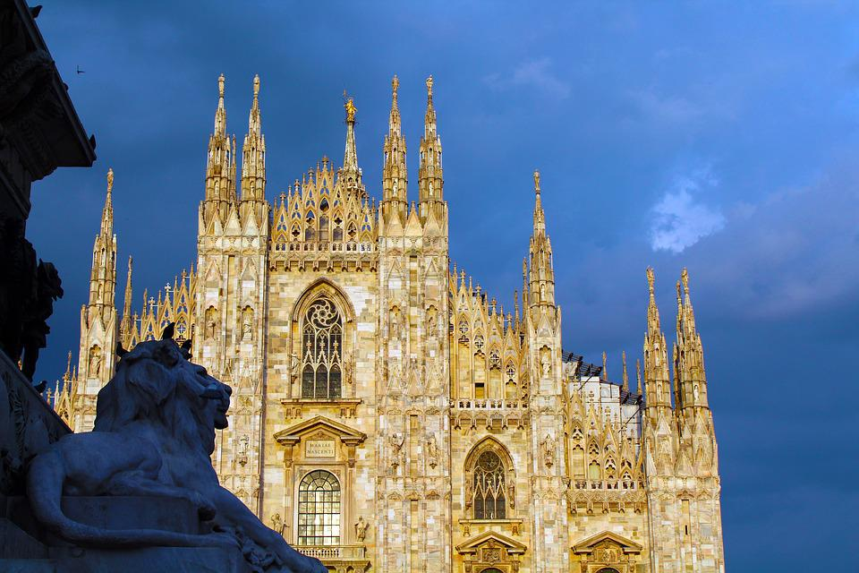 Milan, Duomo, Monument, Lombardy, Italy, Downtown
