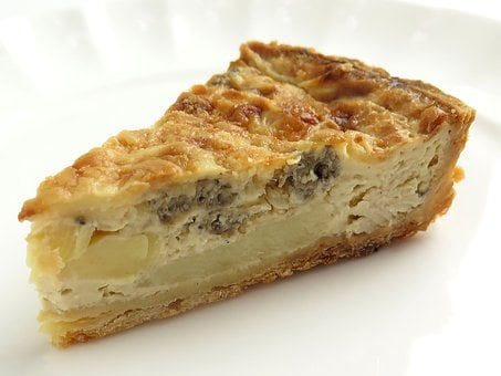 Quiche, Bamboo Shoots, Morel Mushrooms