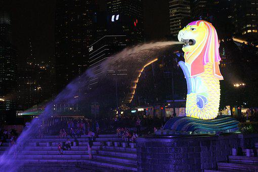 Singapore, Merlion, Merlion Park, Travel