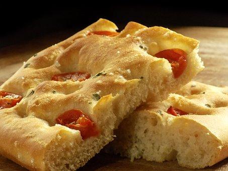 Focaccia, Cherry Tomatoes, Bread